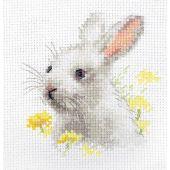 Kit Punto Croce - Alisa - Peluche da ricamare coniglio bianco