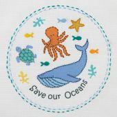 Kit di ricamo per bambini - Anchor - Salvare i nostri oceani