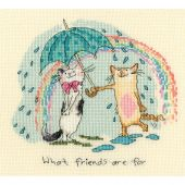Kit Punto Croce - Bothy Threads - A cosa servono gli amici?