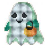 Supporto magnete ricamo diamante - Collection d'Art - Fantasma di Halloween