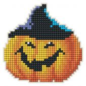 Supporto magnete ricamo diamante - Collection d'Art - Zucca di Halloween