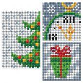 Adesivo da ricamo Diamante - Collection d'Art - Foglio 3 adesivi - Albero di Natale