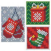 Adesivo da ricamo Diamante - Collection d'Art - Pannello 3 adesivi - Accessori natalizi