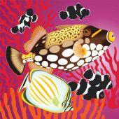 Kit ricamo diamante - Collection d'Art - pesci,