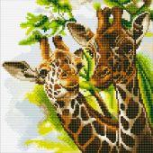 Kit ricamo diamante su telaio - Crystal Art D.I.Y - Giraffe amichevoli