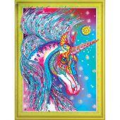 Supporto in cartoncino per ricamo diamante - RTO - Favoloso unicorno