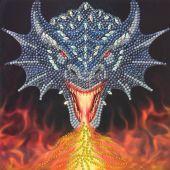 Carta con ricamo a diamante - Crystal Art D.I.Y - Drago