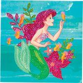 Carta con ricamo a diamante - Crystal Art D.I.Y - Ariel