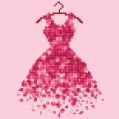 Kit ricamo diamante - Diamond Art - vestito rosso