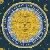 Kit ricamo diamante - Diamond Art - Mandala del sole