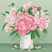 Kit ricamo diamante - Diamond Art - Rose Inglesi