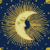 Kit ricamo diamante - Diamond Art - Mandala della luna