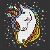 Kit ricamo diamante - Diamond Art - Cuore di unicorno