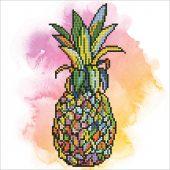 Kit ricamo diamante - Diamond Art - Ananas