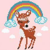 Kit ricamo diamante - Diamond Art - Cerbiatto arcobaleno