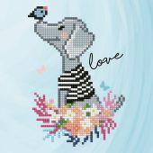 Kit ricamo diamante - Diamond Art - Amore per i cani