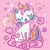 Kit ricamo diamante - Diamond Art - Unicorn-kitten