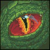 Kit ricamo diamante - Diamond Art - Occhio del Drago