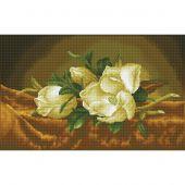 Kit ricamo diamante - Diamond Dotz - Magnolia su velluto dorato