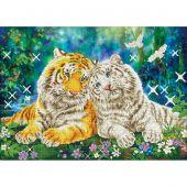 Kit ricamo diamante - Diamond Dotz - Coppia di tigri