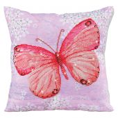 Kit cuscino ricamo diamante - Diamond Dotz - Farfalla albicocca