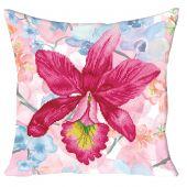 Kit cuscino ricamo diamante - Diamond Dotz - Fiore rosa del giardino