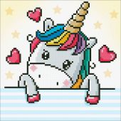Kit ricamo diamante - Diamond Dotz - Piccolo Unicorno