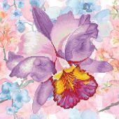 Kit ricamo diamante - Diamond Dotz - Fiore da giardino viola