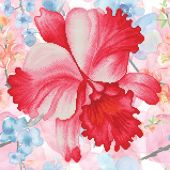 Kit ricamo diamante - Diamond Dotz - Fiore rosa del giardino