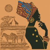 Kit ricamo diamante - Diamond Dotz - Elegante africano