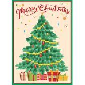 Carta con ricamo a diamante - Diamond Dotz - Merry Christmas