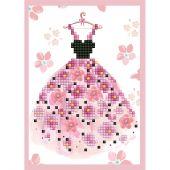 Carta con ricamo a diamante - Diamond Dotz - Bel vestito