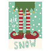 Carta con ricamo a diamante - Diamond Dotz - Let it snow !