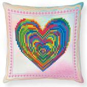 Kit cuscino ricamo diamante - Diamond Dotz - Amore