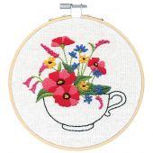 Kit per ricamo a tamburo - Dimensions - Bouquet per tazzine da tè