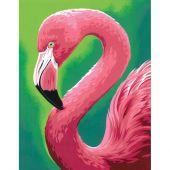 Kit di pittura per numero - Dimensions - Divertimento di fenicottero rosa