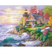 Kit di pittura per numero - Dimensions - Il guardiano del mare