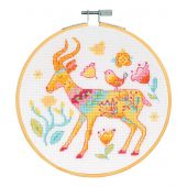 Kit punto croce con tamburo - DMC - L'antilope