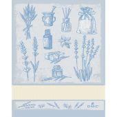 Straccio da ricamare - DMC - Erbe aromatiche - Blu