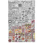 Tela predisegnata - Zenbroidery - Cubista