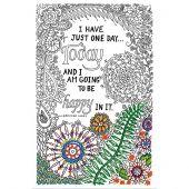 Tela predisegnata - Zenbroidery - Be happy