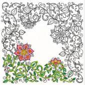 Tela predisegnata - Zenbroidery - giardino