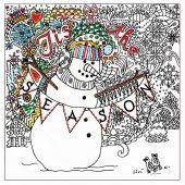 Tela predisegnata - Zenbroidery - Pupazzo di neve