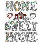 Tela predisegnata - Zenbroidery - Home sweet home