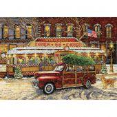 Kit Punto Croce - Design works - Route 66 - Cena di Natale
