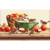 Kit Punto Croce - Toison d'or - Passeri e mele