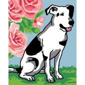 Kit di tela per bambini - Luc Créations - Cane bianco e nero
