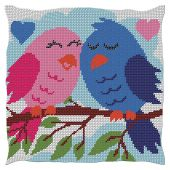 Kit cuscino fori grossi - Luc Créations - coppia di uccelli