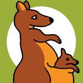 Kit di tela per bambini - Luc Créations - canguro