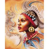 Kit Punto Croce - Lanarte - Madre Africana